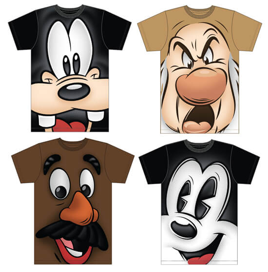 T Shirts Cartoon Characters : Disney character t shirts