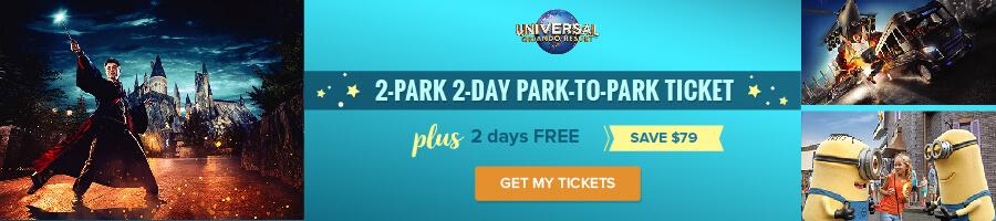 Universal 2-Park 2-Day Park-to-Park Ticket + 2 days FREE (PROMO) (E-Ticket)