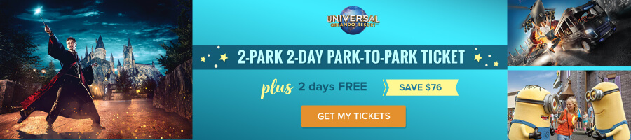 Universal 2-Park 2-Day Park-to-Park Ticket + 2 days FREE (PROMO) (E-Ticket)