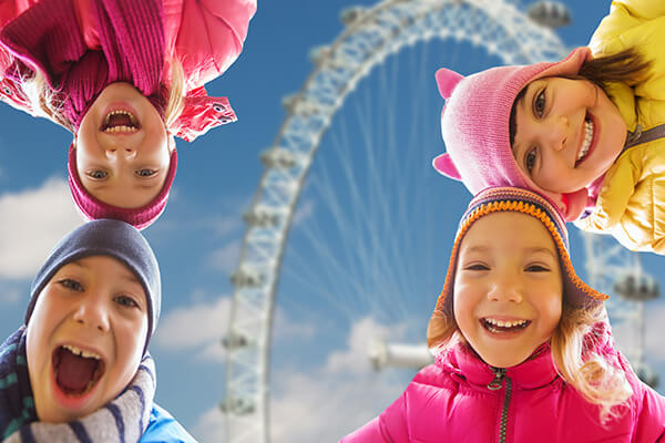 London Eye with children