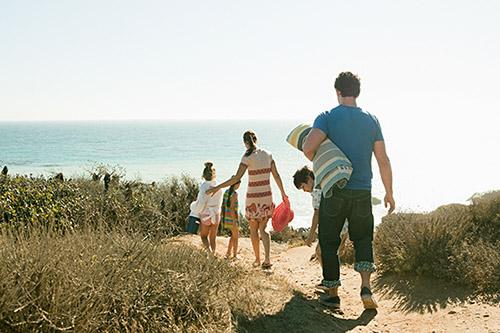 Los Angeles Family Picnicing at Beach
