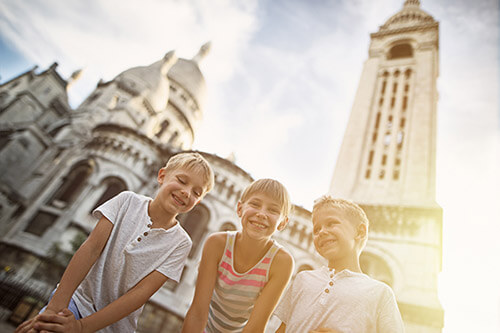 Paris kids historic city